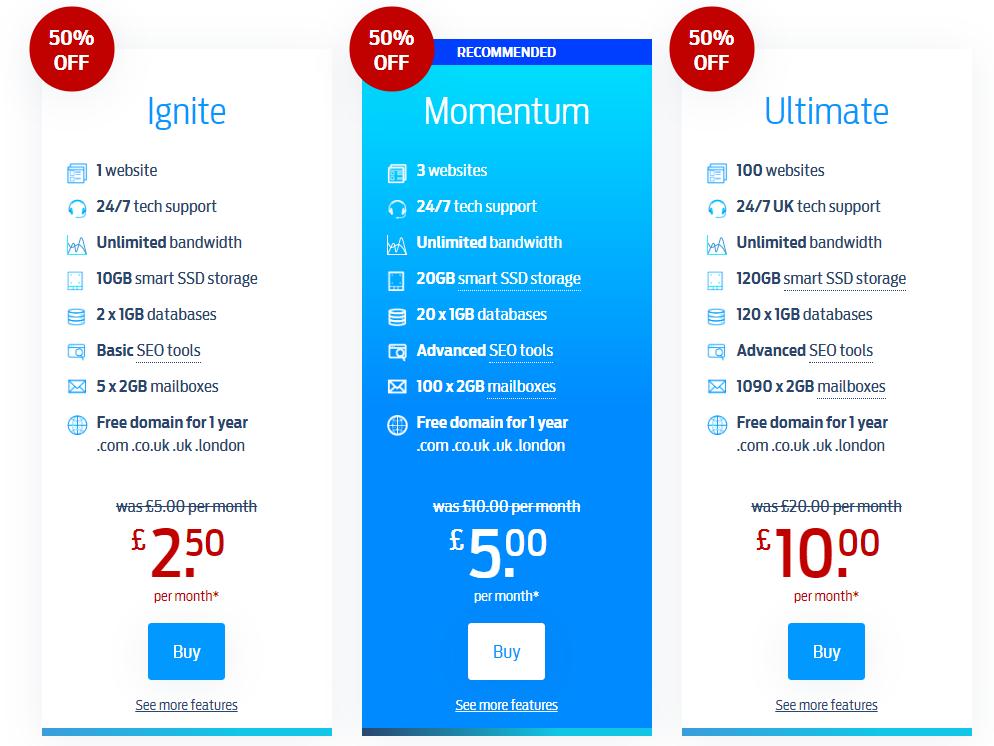 Fasthosts web hosting