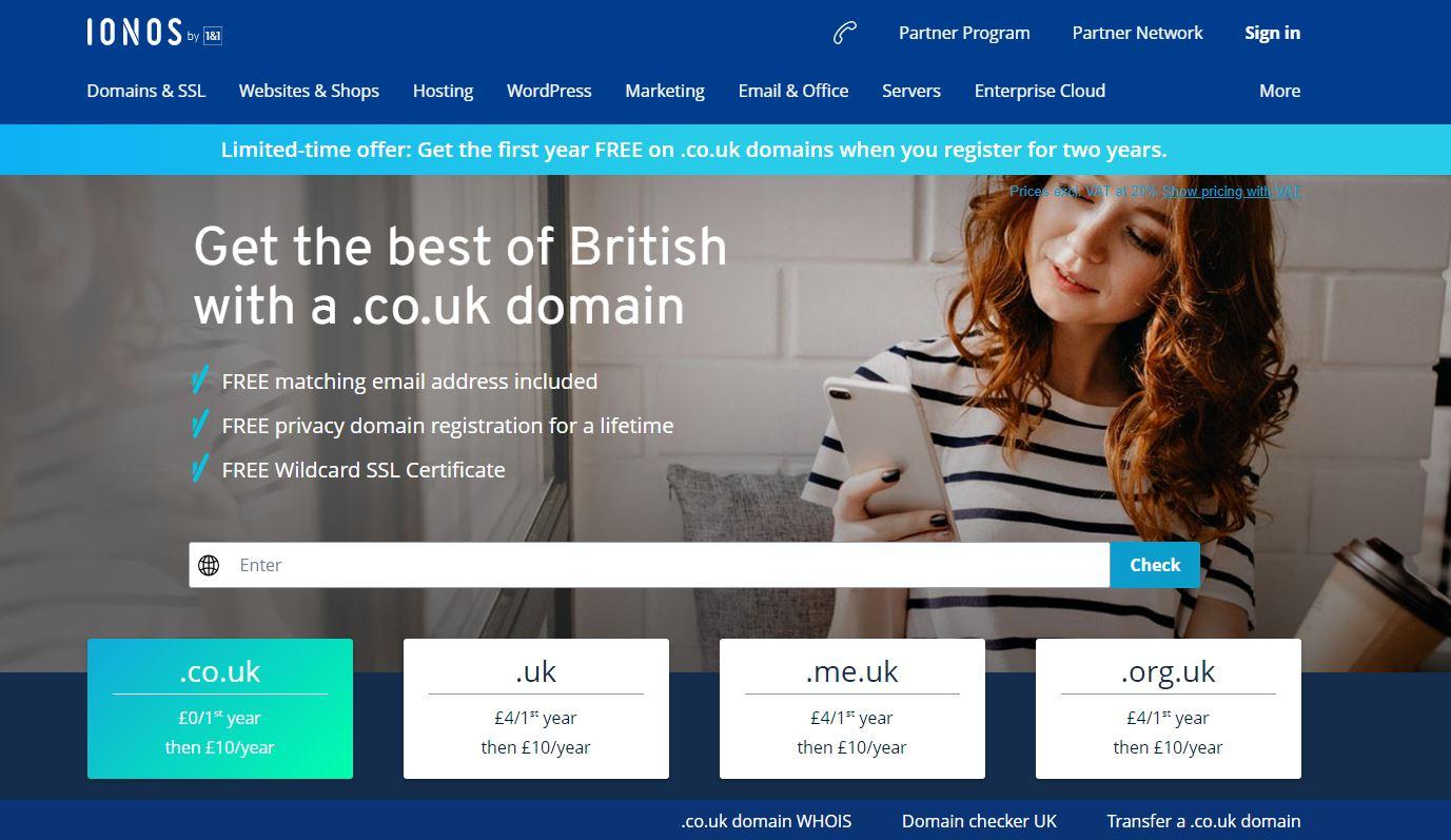 Ionos free uk domain name