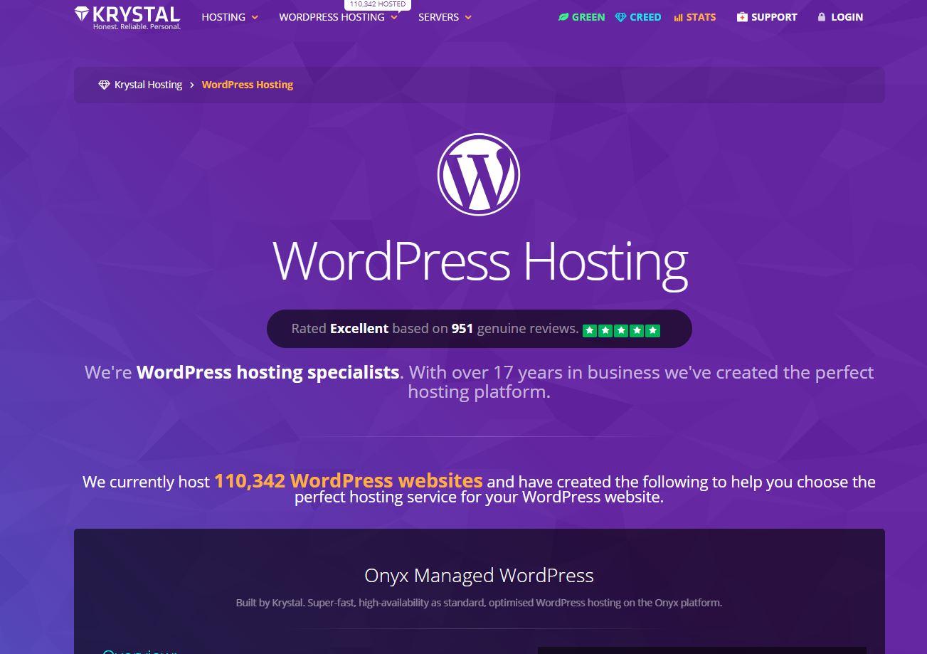 Krystal WordPress hosting