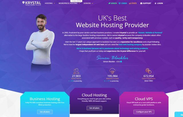 Krystal hosting home page
