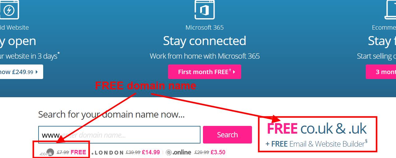 Names.co.uk free domain name